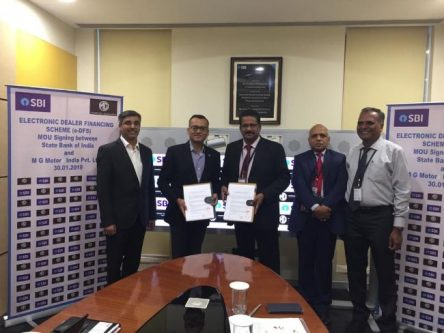 MG Motor Partners SBI As A Finance Solutions Provider