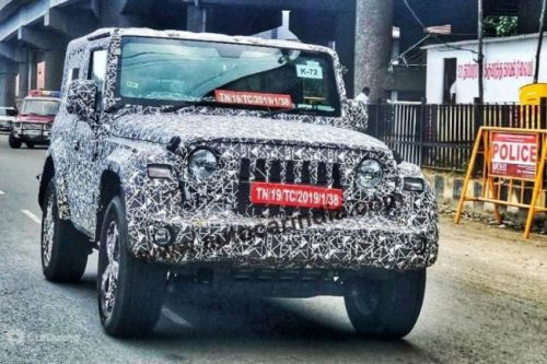 2020 Mahindra Thar Is Raring To Come Out In The Flesh