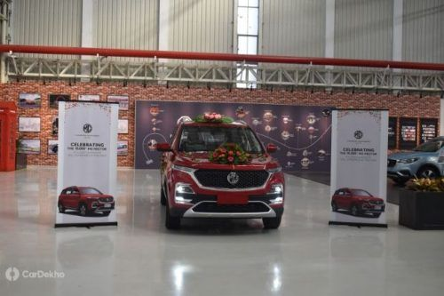 10,000th Hector Rolls Out From MG's Halol Workshop, Bookings Breach 42,000 Units