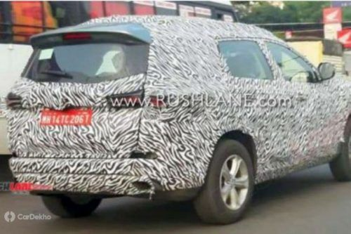 7-Seater Tata Harrier With AT Spotted Testing, Auto Expo Debut Likely