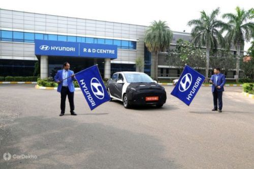 Hyundai Flags Off Camouflaged Aura For Testing