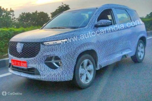 New Full-Sized MG SUV Spotted Testing In India